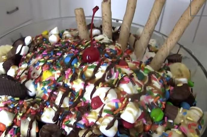 What would you think of this massive ice cream sundae?
