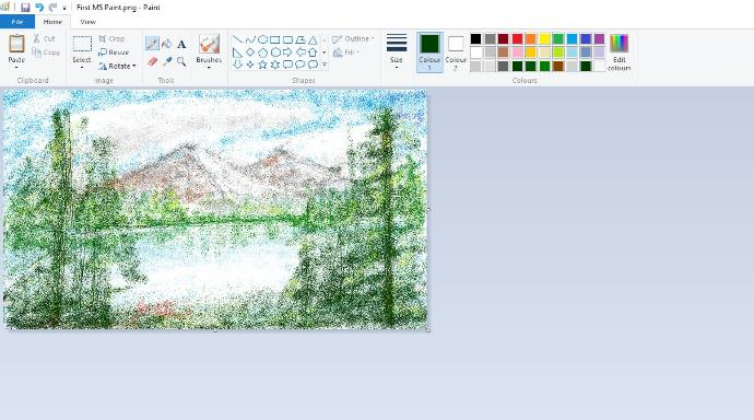 My first Microsoft Paint painting, rate pls?