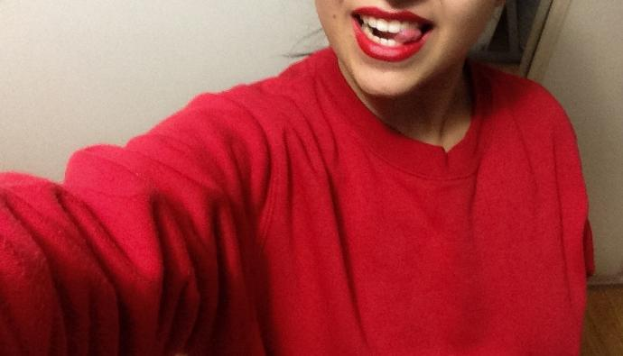 Selfie in a Red Lip, GaGers😉💋💄?