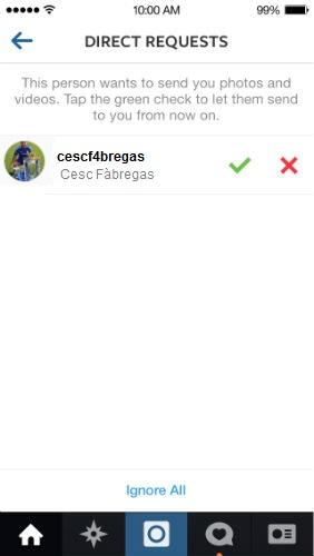 Why did Cesc Fabregas message be on Instagram, and complimented me? pics below?