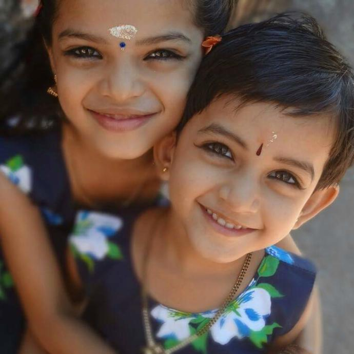 my cousin brother's kids. Aswathy and Abha. how do they look?