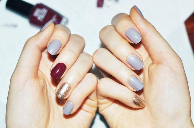 Different colored nail polish like...?