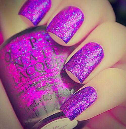Guys, do you like nails with glitter polish on girls?