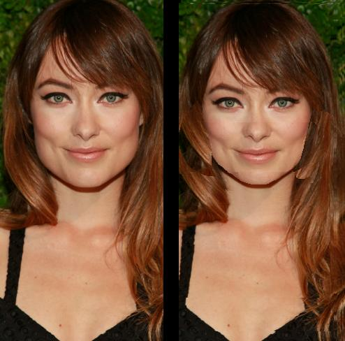 Doesn't Olivia Wilde look better without her man jaw?