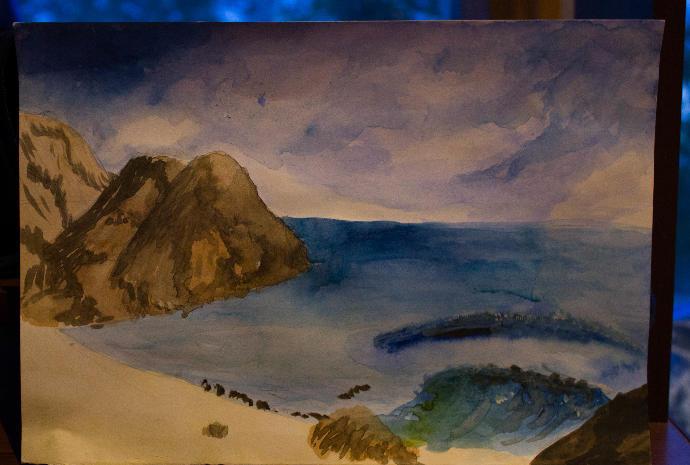 i draw the sea, rate 1-10? photo?