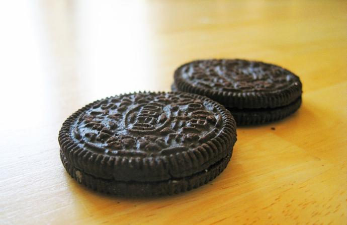 What's the best part of an oreo?