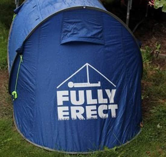 Can you erect a tent?