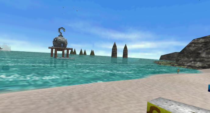 How would you feel if you were at the Zora's Domain and the Great Bay beach (from the video game LoZ Ocarina of Time and Majora's Mask) right now?