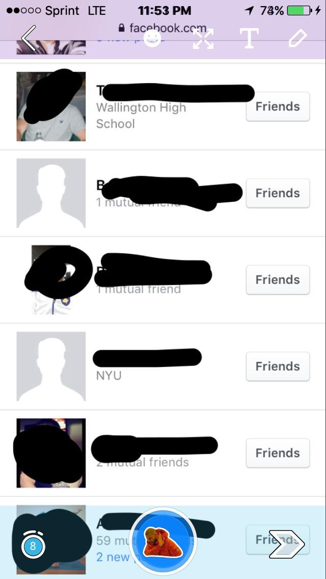 Facebook question about friends?