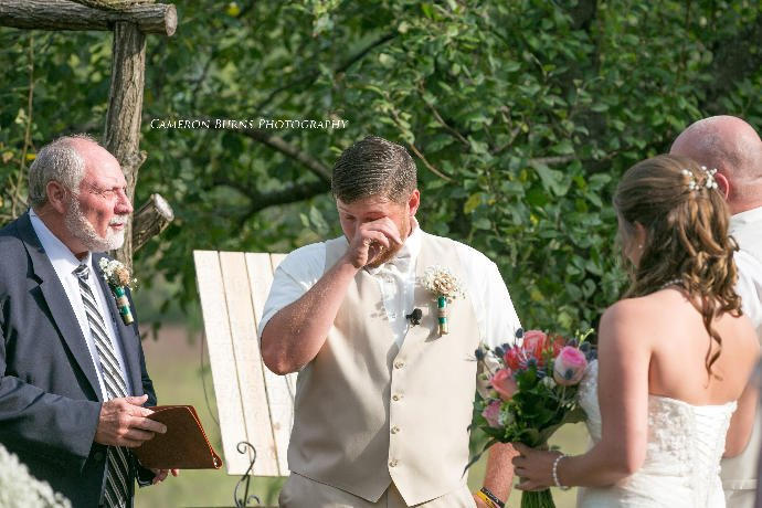 Guys, would you cry when you see your bride for the first time?