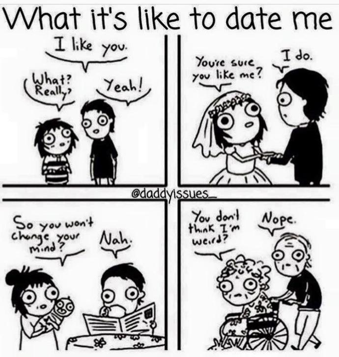 Do you feel like the girl in the comic when you go out with someone?