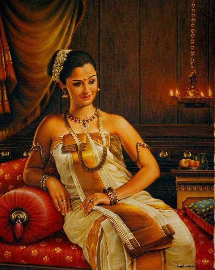 this is a portrait of a princess of old travancore kingdom.  what do you think about that painter's skill?
