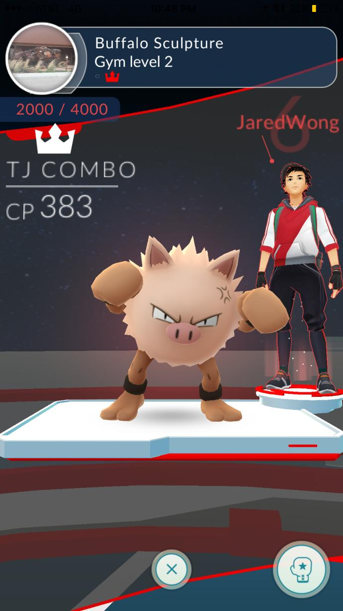 Have you taken over a gym yet in Pokemon go ?