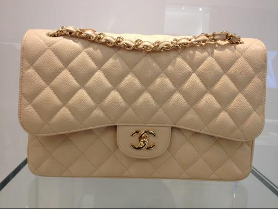 Beige, light pink or red in a Chanel bag?