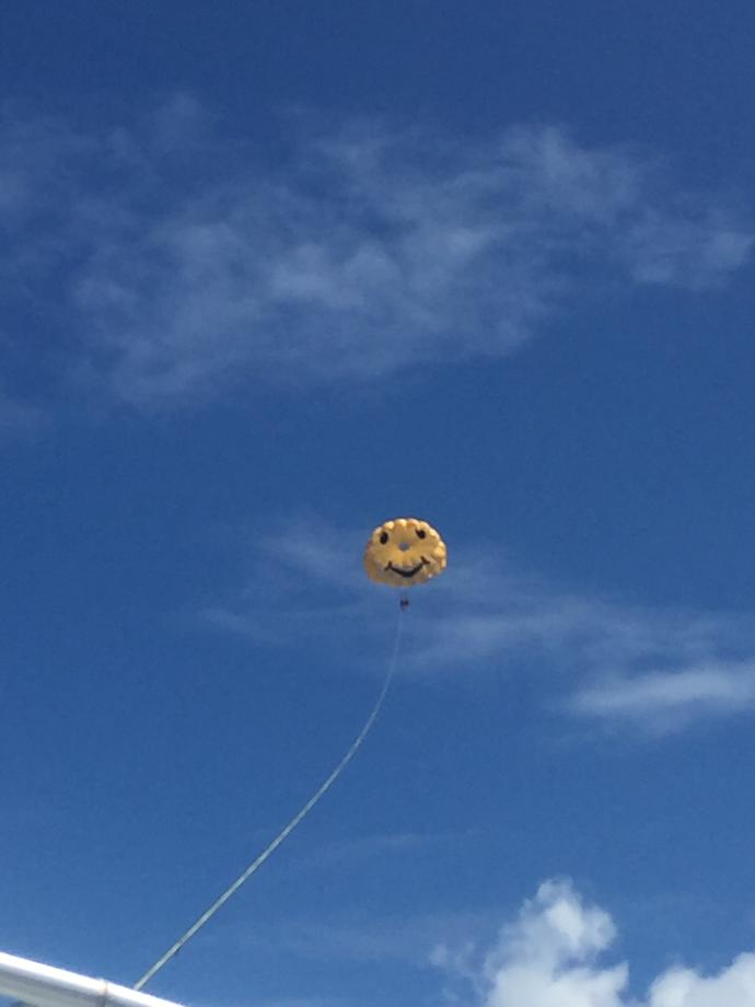 Have you ever gone parasailing before?