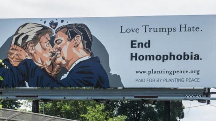 This pro-LGBTQA billboard just went up 5 minutes from the RNC, is it not glorious?