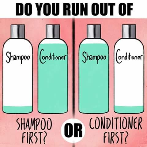 Do you run out of shampoo or conditioner first?