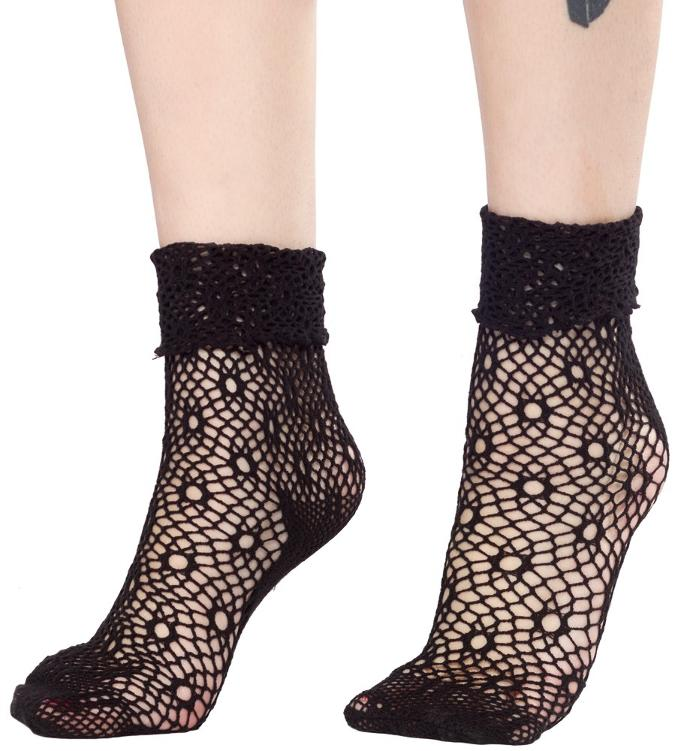 Girls, would you wear lace / fishnet socks with boots?