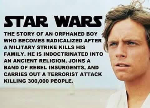 Should Star Wars be banned since it's a terrorist story?