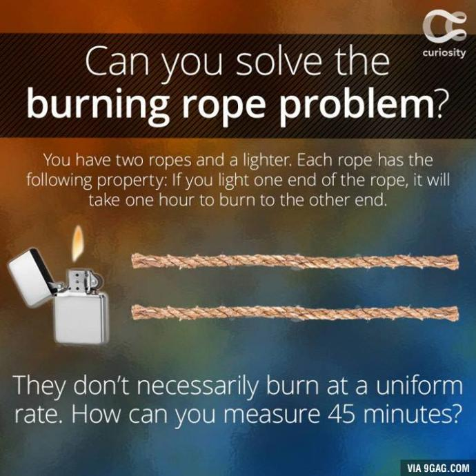Who can solve the burning rope problem?