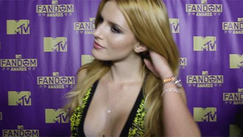 Girls, is Bella Thorne, flirting with the camera in this .gif?