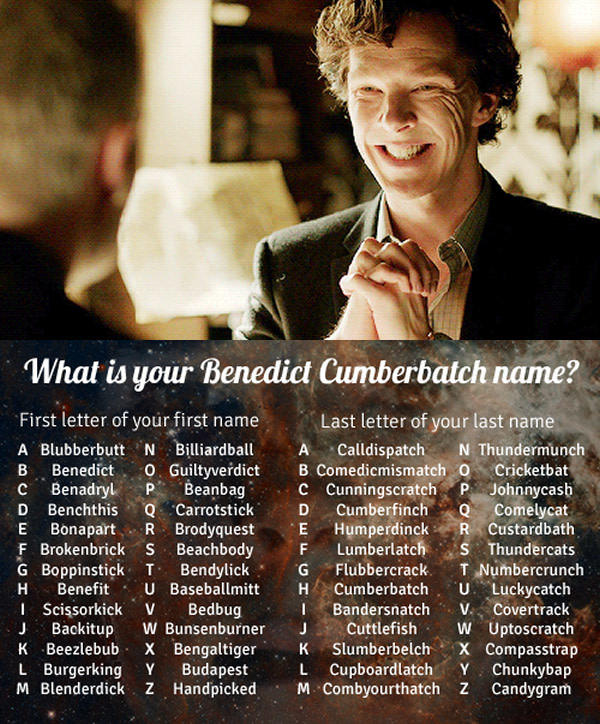 What is your Benedict Cumberbatch name?