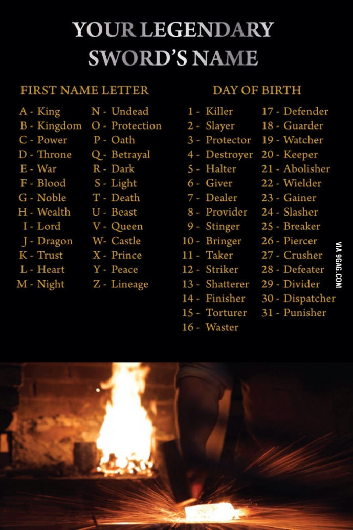 What is your sword's name?