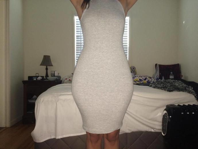 If you saw a girl like this on the street , would you think she was fat or curvy ?