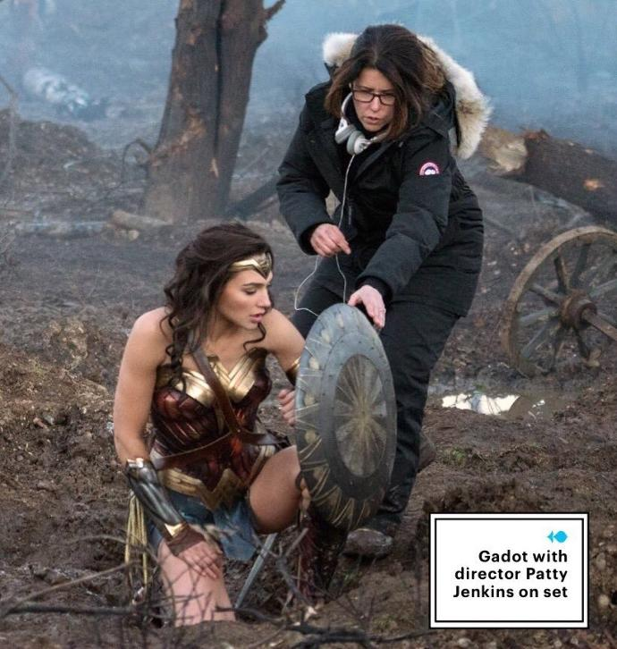 Someone in this Wonder Woman photo is either sweating bullets or freezing to death, which do you think?