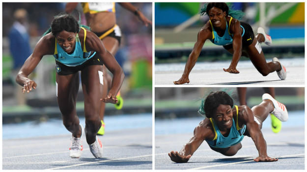 What do you think of Shaunae Miller dive's to win 400m Gold?