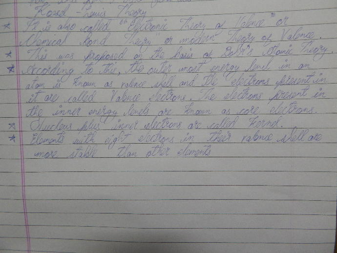 How is my handwriting?