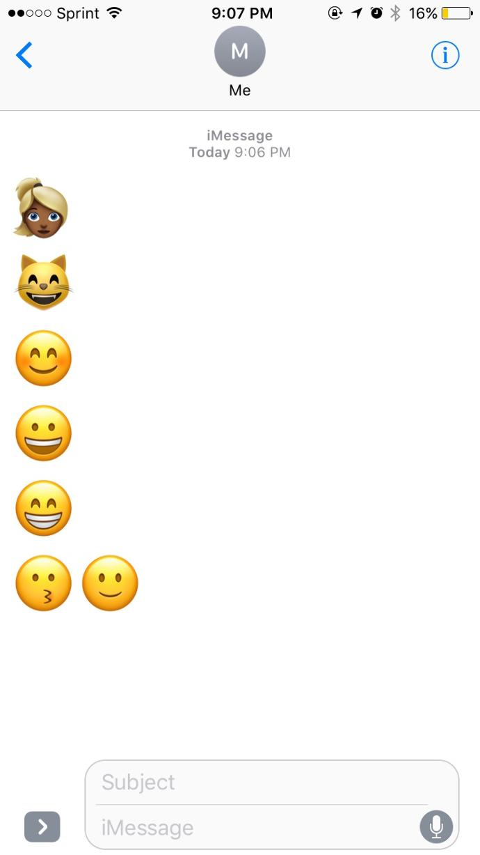 The new apple emojis are😷😷?