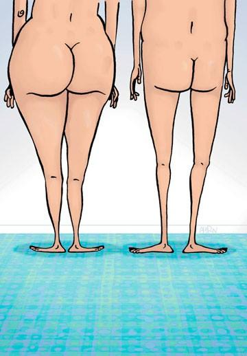 Anatomy: which of these bodies is male and which is female? How do you know?