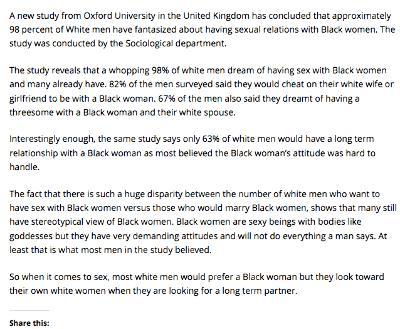 Black women who want to fuck white men