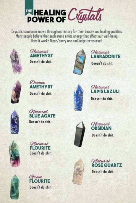 Does anyone believe in the haling power of crystals?