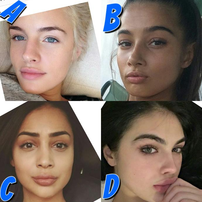 Which girl looks the most beautiful with no make up?