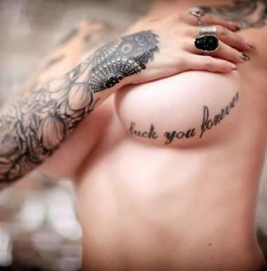 How do you feel about these types of tattoos (under boob, knee , wrist , above the wrist but under the elbow , arm) ?