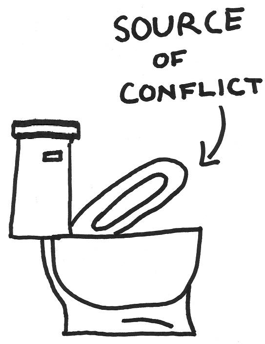 Why hasn't there ever been a balanced view over the soap opera involving the toilet seat?
