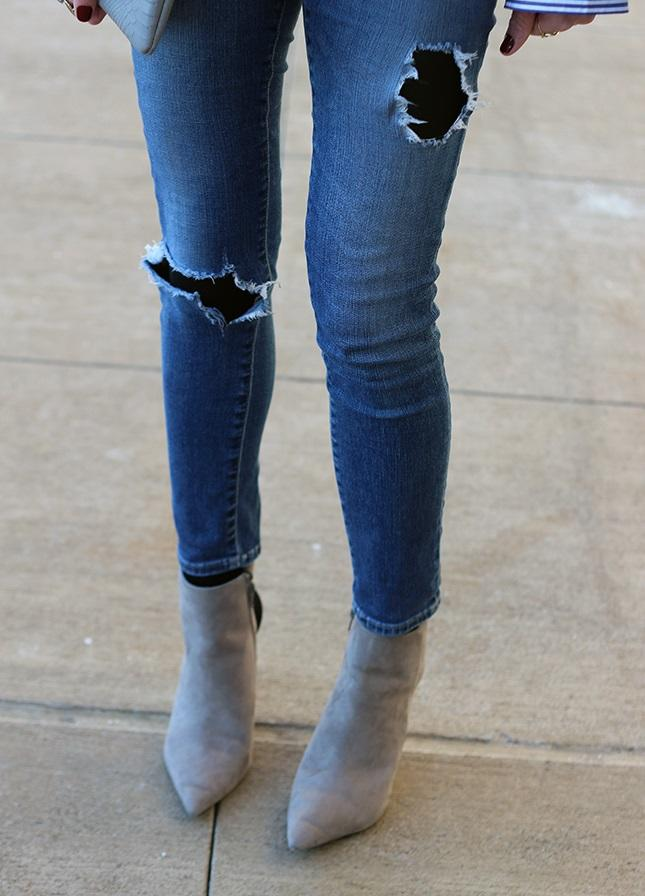 School dress code says no ripped jeans, but would they be ok if I had leggings under?