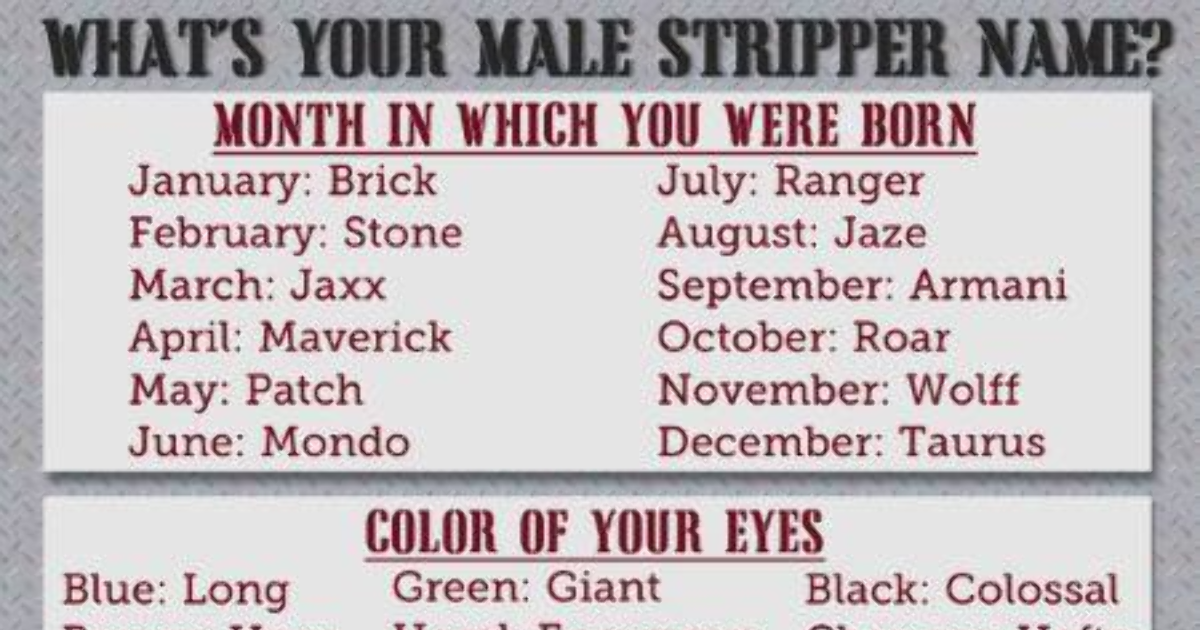 Names boys stripper for What Would