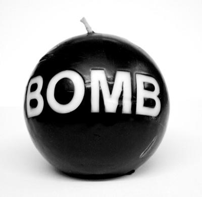 What would you do if you saw some guy walking down the street with this bomb in his hand?