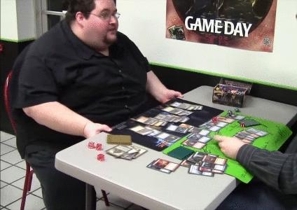 What is your reaction when you lose a game?