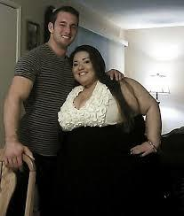 Is it rare to see a woman this size with a man this size?