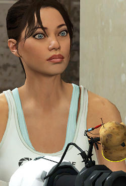 Am I the only one who thinks Chell from the Portal video game series is hot/sexy?