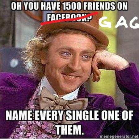 Want to name all of your G@G friends WITHOUT mentioning them?