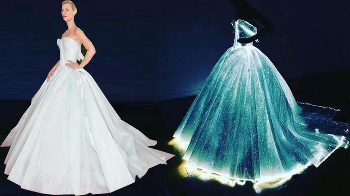 help me! fibre optics dress?