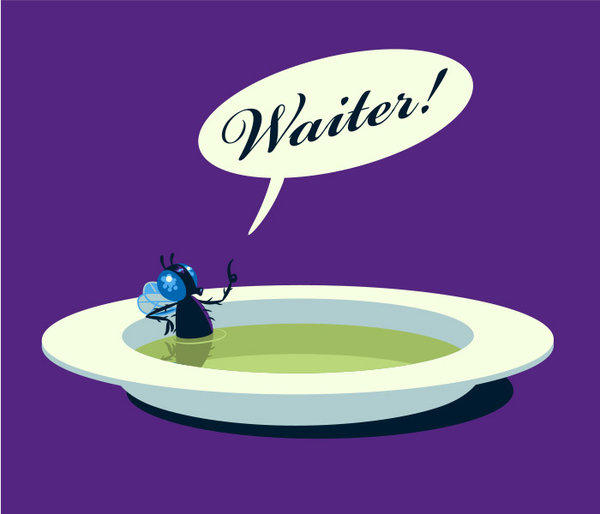 How grossed would you be if a fly landed in your soup and your date excitedly said