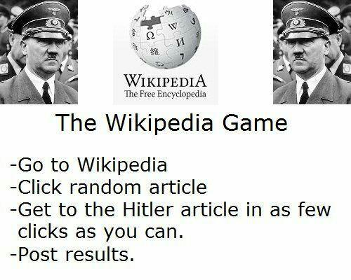 Want to play the wikipedia game?