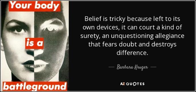 Do you have faith? Do you believe?