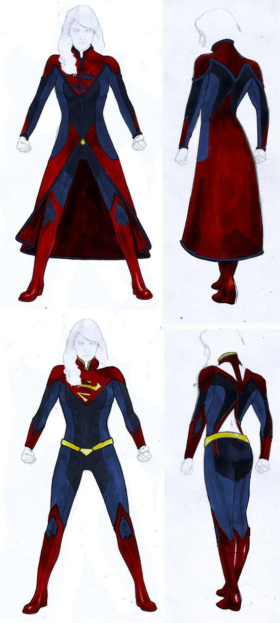Which outfit for supergirl for season 2 looks better?